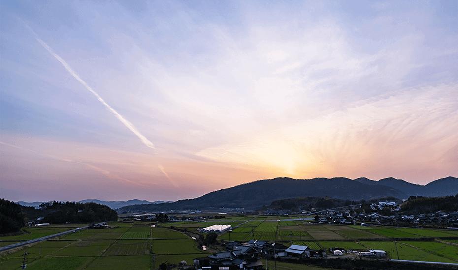 恵温泉から見た風景の写真